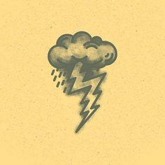 Number 4. #36days_4 #lightning #oldschool #tattoo by instagram.com/salmorejo_studio
