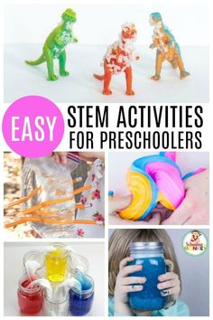 STEM activities aren't just for elementary! Preschoolers can learn with preschool STEM activities! STEM activities for preschoolers provide the ultimate STEM experience! - Kids education and learning acts Science For Toddlers, Preschool Science Activities, Preschool Lesson Plans, Steam Activities, Stem Science, Preschool Learning, Preschool Activities, Science Experiments, Stem For Preschoolers