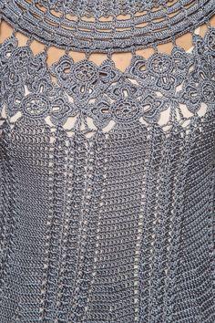 Vestido Crochet Manga Longa Valle Nevado - Vanessa - vanessamontoro