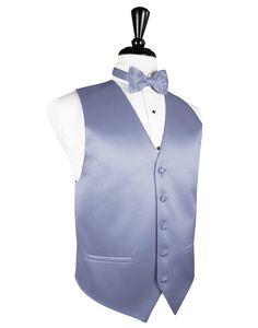 Periwinkle  Premier  Satin Tuxedo Vest