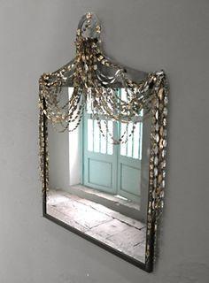 Beautiful Mirror white lacquer baroque mirror | home decoration | pinterest