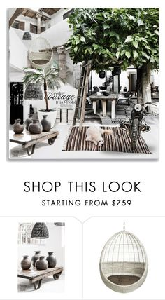 """Boho Style -Maja k"" by maja-k ❤ liked on Polyvore featuring interior, interiors, interior design, home, home decor, interior decorating, Saint Tropez and CB2"