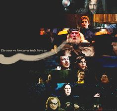 the ones we love never truly leave us.. another fantastic HP quote.