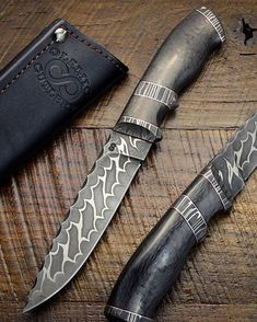 Suna in carbon fiber and nickel carbon Damascus