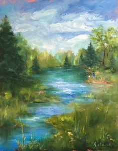 Painting by Kathy Clouse Water Oil Painting Art by KathyClouseArt
