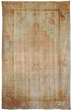 Antique Oushak Rugs (Turkish) Number 14562, Antique Turkish Rugs | Woven Accents