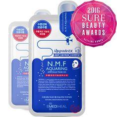 [MediHeal Clinic] N.M.F Aquaring Ampoule Mask Sheet pack 3 Pcs Korean Cosmetic  #MediHeal