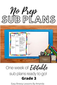 Third Grade Sub Tub Bundle Week. No Prep Plans for Substitute) Third Grade Math, First Grade, Second Grade, Science Lessons, Classroom Management, Curriculum, Amanda, Awesome, Amazing