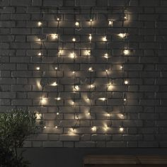 IKEA - SKRUV, LED light curtain with 48 lights, , You can personalize the light chain to match the season or your style. Just add the decorations of y Led Curtain Lights, Wall Lights, Light Chain, Light Images, Affordable Furniture, Eclectic Decor, Light Decorations, Event Decor, Outdoor Lighting