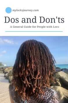 There are many common mistakes that people make regarding how to care for locs. Learn about these 6 essential Dos and Don'ts. Natural Dreads, Natural Hair Twists, Natural Hair Updo, Be Natural, Natural Hair Care, Natural Hair Styles, Short Locs Hairstyles, Twist Hairstyles, Wedding Hairstyles