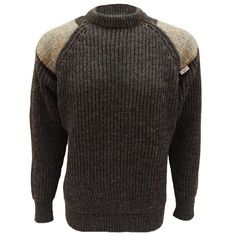 Niffi Ecosse Gamekeeper Chunky Crew Neck Classic Outdoor Unisex Sweater with…