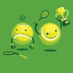 clever tennis illustration