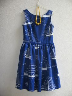Handmade boat dress by sewingandso