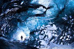 The Gateway to Iceland. An ice cave in Vatnajökull ice cap, south Iceland  COPYRIGHT:© Skarphéðinn Þráinsson .