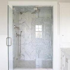 Marble Shower Surround, Traditional, bathroom, Milton Development