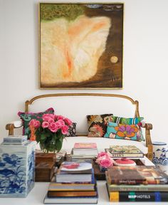 settee, coffee table styling