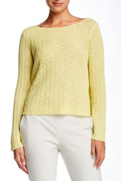 Bateau Neck Boxy Crop Sweater