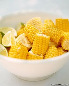 Corn on the Cob with Lime and Melted Butter