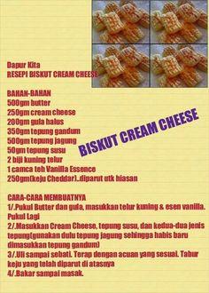 Biskut cream cheese Biscuit Cookies, Biscuit Recipe, Cake Cookies, Biskut Cheese, Pastry Recipes, Cookie Recipes, Chocolate Hazelnut Cookies, Cream Cheeses, Cookie Ideas