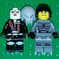 LEGO Space Police 3 III Skull Twin /& Airtanks Officer 4 RARE NEW Minifigure lot