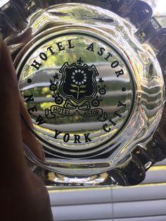 HOTEL ASTOR NEW YORK CITY Vintage Original Square Glass Ashtray Rare  | eBay