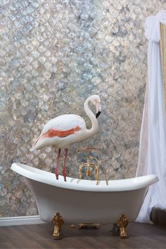 """Looking for a nice and astonishing wallpaper? """"Blue Skin"""" by Italian Wallcoverings perfectly fits with almost every kind of environments. We reccomend it for bathroom areas, check it on support! Clawfoot Bathtub, Office Interiors, Wall Decor, Indoor, Interior Design, Blue, Wallpapers, Sicily, Ethnic"""