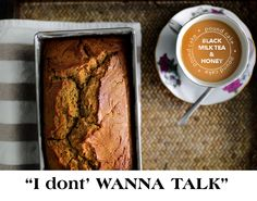 black milk tea & honey pound cake