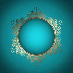 Fundo à moda decorativo com frame dourado