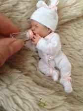 OOAK miniature, hand sculpted, polymer clay, baby girl, Art Doll, 3.5''