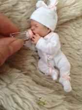 OOAK miniature, hand sculpted, polymer clay, baby girl, Art Doll, 3.5''