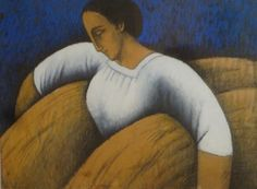 "Felix-Elie Tobeen, ""Peasant Woman with Wheat"""