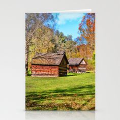 Johnson City Tennessee Cabins Stationery Cards by Mary Timman - $12.00