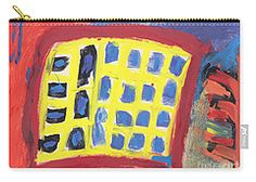 Carry-all Pouch featuring the painting Work Time by Noa Yerushalmi