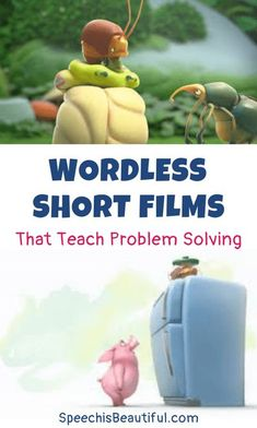 10 wordless videos that teach problem solving – I use these videos with in my speech therapy (and teletherapy sessions) with older elementary students. You will be surprised how much language you will get from your quietest kids as they figure out how to solve the characters' problems. - Speech is Beautiful