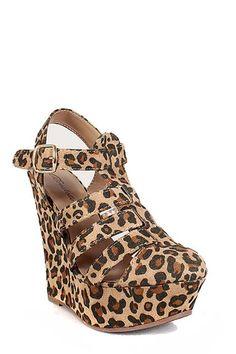 Amazon.com: Leopard Closed Toe Gladiator Strappy Platform Wedge: Shoes
