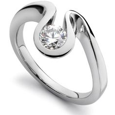 'essence of wave' flowing white gold diamond ring in 18ct gold ♥≻★≺♥