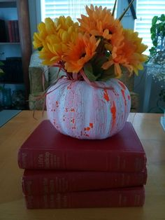 These 23 DIY decor pumpkins are so unique, we guarantee your neighbors won't have the same ones! Fake Pumpkins, Fabric Pumpkins, White Pumpkins, Painted Pumpkins, Pumpkin Flower, Diy Pumpkin, Pumpkin Crafts, Pumpkin Planter, Pumpkin Display