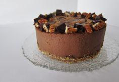Raw Mexican Dark Chocolate Turtle Cheesecake.
