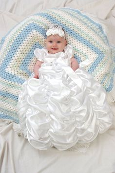 Christening Christening Gown  Christening Dress by Debragardner, $85.00. If I ever have a girl! I am so getting this dress for her baby blessing!!