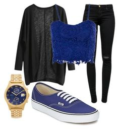 Rainbow challenge Day 5 Blue by pinkunicorn007 on Polyvore featuring polyvore, fashion, style, J Brand, Vans and Marc by Marc Jacobs