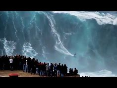 BIGGEST WAVE in the World surfed 100ft at 02:50min (REAL FOOTAGE)Carlos Burle Portugal - YouTube