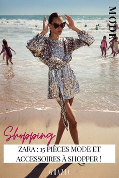 Découvrez nos crushs du moment parmi la nouvelle collection été de Zara. Zara, Golden Glitter, Cover Up, In This Moment, Shopping, Dresses, Fashion, Fashion Styles, Vestidos