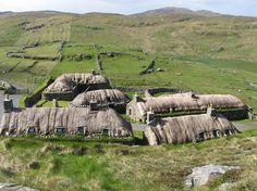 Blackhouse Village on the Isle of Lewis -Outer Hebrides, Scotland.