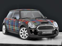 The ultimate- tartan mini cooper Scottish Plaid, Scottish Tartans, Harris Tweed, Jaguar, Silver Car, Mini Cooper S, Car Wrap, Tartan Plaid, Tartan Decor