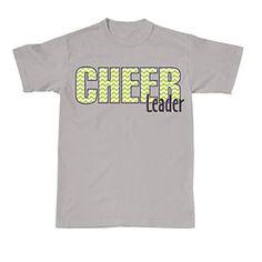 Chevron Cheerleader T-Shirt with Glitter Ink by Cheerleading Company