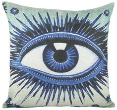 Eye Cotton Throw Pillow