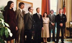 Mark Lijek '78 (second from the right), with President Carter and other Iranian escapees.