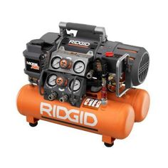 RIDGID Tri-Stack 5 gal. Portable Electric Steel Orange Air Compressor-OF50150TS at The Home Depot