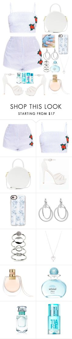 """""""Untitled #3"""" by random12322 ❤ liked on Polyvore featuring Mansur Gavriel, New Look, Casetify, Nine West, Kaari Blue, Tiffany & Co., Chloé and Michel Germain"""