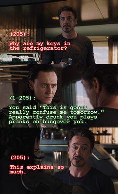 Texts from the Avengers - Loki and Tony Stark